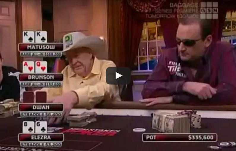 Sick Poker Hands – Doyle Brunson vs. Mike Matusow
