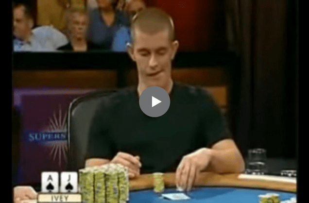 Sick Poker Hands – Gus Hansen vs. Phil Ivey