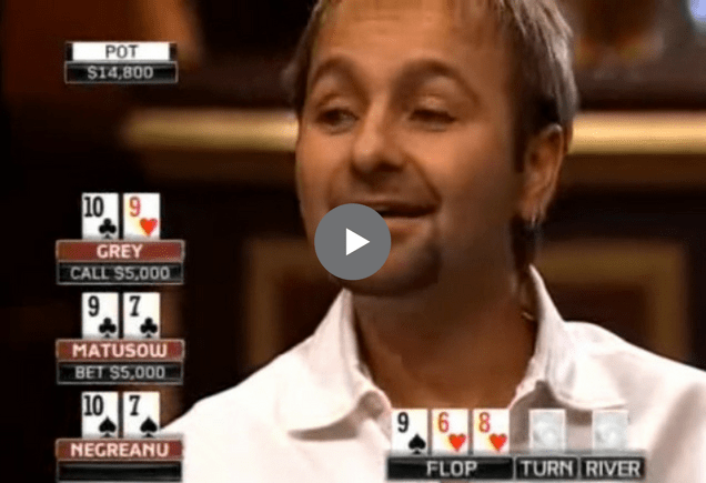 Sick Poker Hands – Mike Matusow vs. Daniel Negreanu
