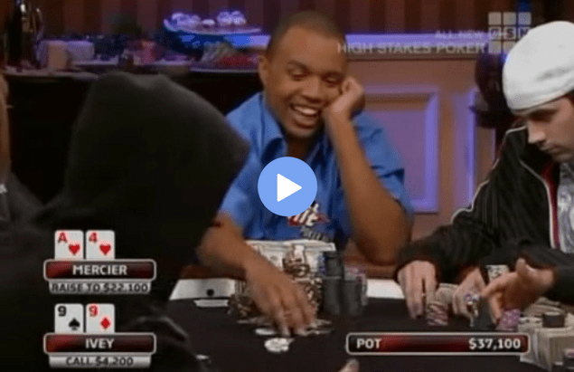 Sick Poker Hands – Phil Ivey vs. Jason Mercier