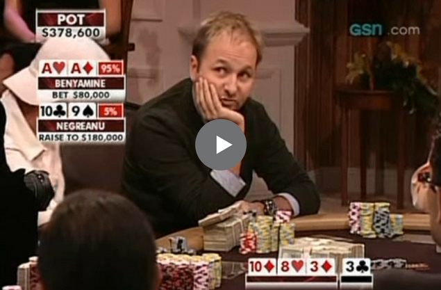 Sick Poker Hands – Huge Decision For Daniel Negreanu