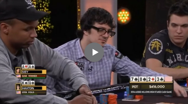 Sick Poker Hands – Phil Ivey vs. Isaac Haxton