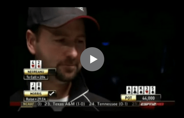 Sick Poker Hands – Tough River For Negreanu