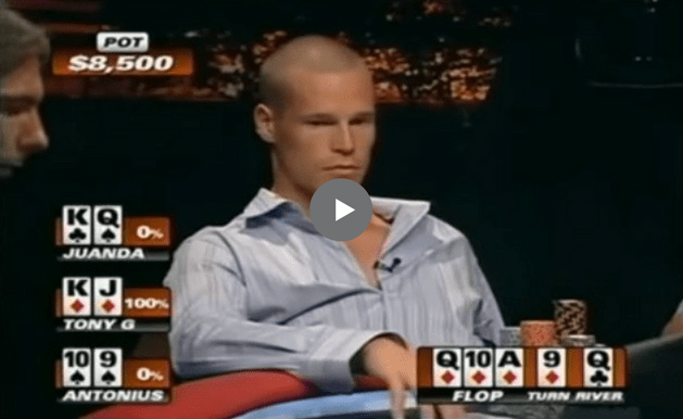 Sick Poker Hands – A Royal For Tony G